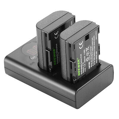 Neewer LP-E6 LP-E6N Battery Charger Rechargeable Batteries Set For Canon • 26.99£
