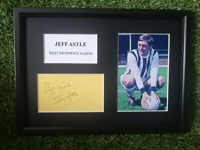 Jeff Astle (West Bromwich Albion) PRINTED SIGNED AUTO A4 PHOTO MOUNT - PRINT • 7.95£