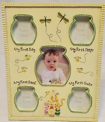 £5.79 • Buy Disney Baby Winnie The Pooh Milestone Picture Photo Frame First Day Steps Bath +