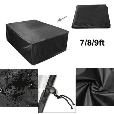 AU38.25 • Buy 7/8/9ft Polyester Waterproof Fabric Outdoor Pool Snooker Billiard Table Cover