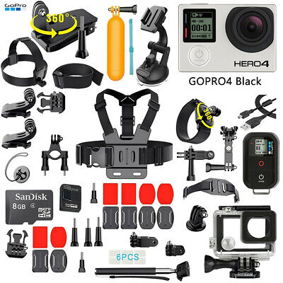 $ CDN164.57 • Buy GoPro HERO 4 Black Edition Camera + 50PCS Accessory + Remote +OEM Battery+ 8G SD