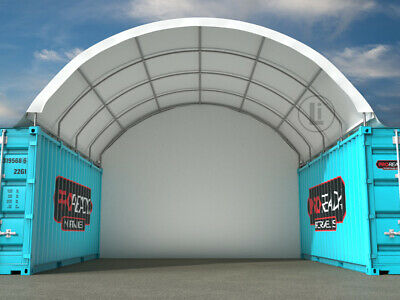AU2650 • Buy NEW 20ft X 20ft Shipping Container Dome Shelter With End Wall ORP $4,125