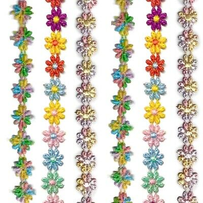 2x Yards 15mm Guipure Embroidered Flower Lace Trim - Pick Your Flower Design • 2.99£