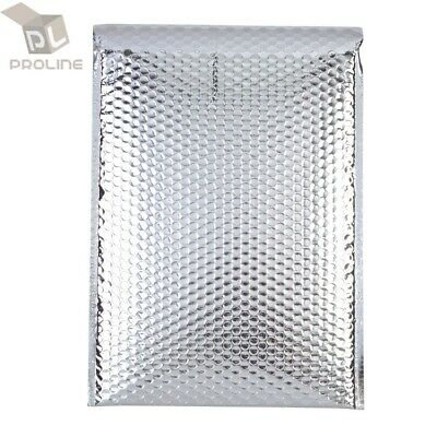 $ CDN21.41 • Buy 50 Glamour Metallic Silver Poly Bubble Mailers Envelopes 5x9 (Inner 4.5x7.25)
