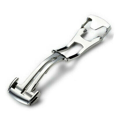 16/18/20mm Stainless Steel Deployant Watch Strap Folding Buckle Clasp For Omega • 4.29£