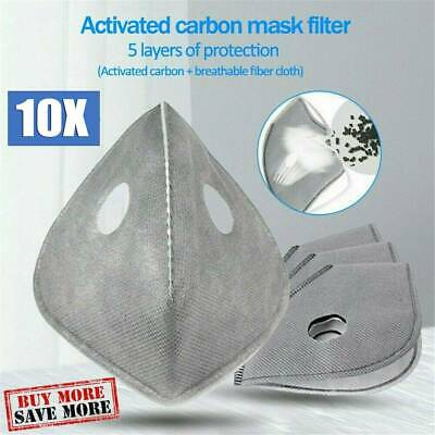 $ CDN12.89 • Buy 10 Pack Adult PM2.5 Activated Carbon 5 Layer Face Mask Replacement Filters
