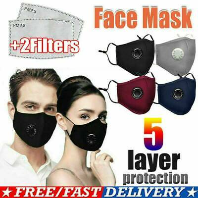 $ CDN13.59 • Buy Reusable Air Breathing Valve Face Mask Cover With 2 Activated Carbon Filter