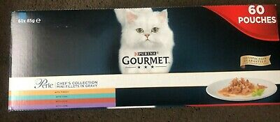 Gourmet Perle Chef's Collection In Gravy Wet Cat Food Pouches - 60 X 85g New • 24.99£