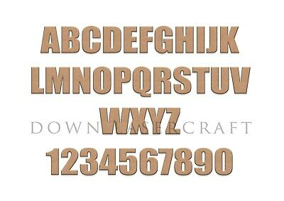 £0.99 • Buy Wooden Letters & Numbers 3mm Thick MDF Alphabet Letters & Numbers Impact