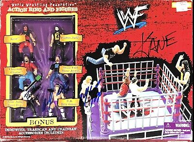 AU227.09 • Buy Wwe Survivor Series Action Ring And Figures Hand Signed Autographed Toy With Coa