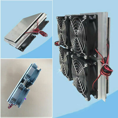£85.34 • Buy 220W Semiconductor Refrigeration Radiator Thermoelectric Peltier 4 Cooling Fan S