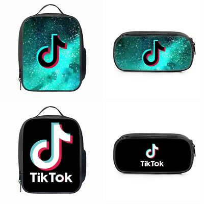 Tik Tok Insulated Lunch Bag Travel Snack Box Food Picnic Lunchbox Pencil Case UK • 4.86£