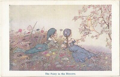 £5.95 • Buy HILDA MILLER Postcard The Fairy In The Blossom C1920's By C W Faulkner