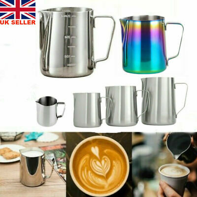£11.22 • Buy Stainless Steel Milk Coffee Cup Frothing Jug Frother Latte Pitcher Container UK