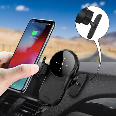 AU25.99 • Buy AU 15W Qi Wireless Car Charger Auto Clamping Car Holder For IPhone 12 Pro 11 XS