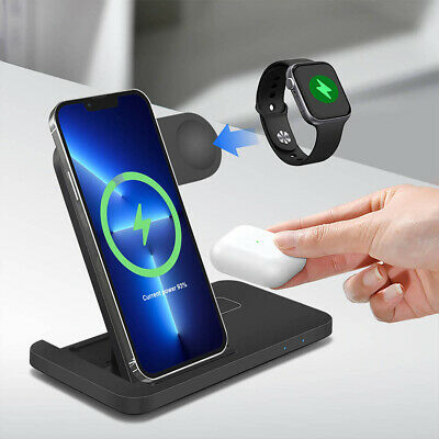 AU24.98 • Buy AU Qi Wireless Charger Charging Dock Stand 4 IN 1 For Apple Watch IPhone 11 XS 8