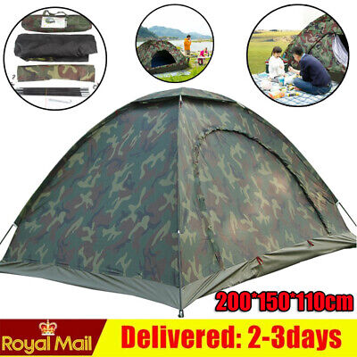 £20.89 • Buy 2 Man Pop Up Two Person Dome Tent Daily Waterproof Outdoor Camouflage UK