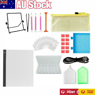 AU21.59 • Buy 5D Diamond Painting Tools DIY Art Craft + LED Pad Light Board With Stand Holder