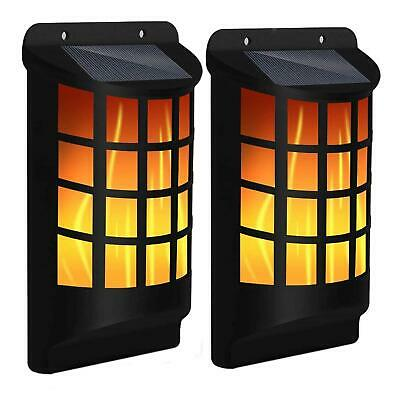 2x SOLAR DANCING FLAME 60 LED TORCH WALL LIGHT FLICKERING LIGHTS OUTDOOR GARDEN  • 14.95£