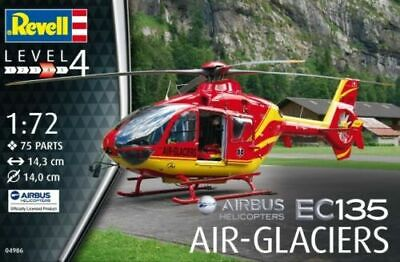 Revell 1:72 - EC135 Air - Glaciers Helicopters MODEL KIT 1:72 SCALE - 04986 • 8.49£