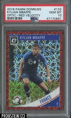 $ CDN238.29 • Buy 2018 Donruss Optic Red Velocity Prizm #132 Kylian Mbappe RC Rookie /50 PSA 10