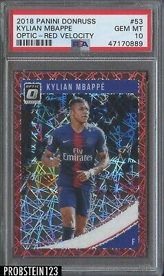 $ CDN224.87 • Buy 2018 Donruss Optic Red Velocity Prizm #53 Kylian Mbappe RC Rookie /50 PSA 10