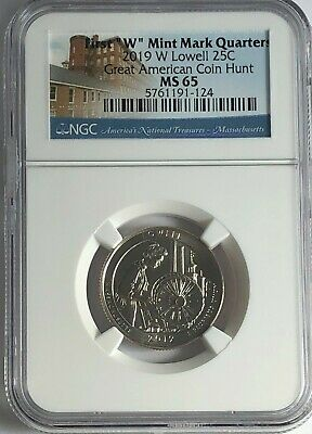 $ CDN26.60 • Buy 2019 W Ngc Ms65  Lowell First W Quarter Great American Coin Hunt West Point