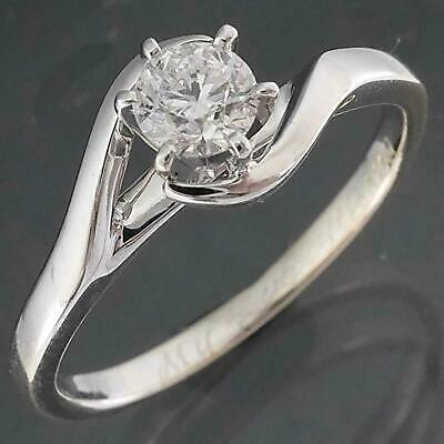 AU475 • Buy Wrap-around Solid 18k WHITE GOLD DIAMOND SOLITAIRE RING  My Everything  Sz K