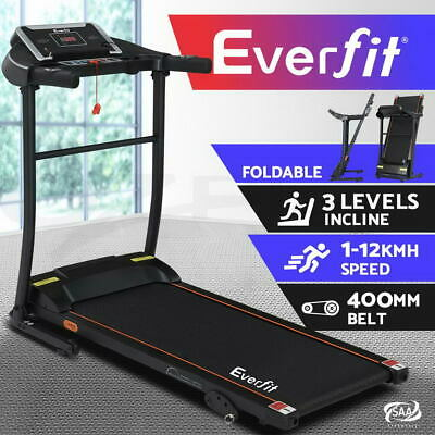 AU379.95 • Buy Everfit Electric Treadmill Incline Gym Exercise Machine Fitness Home 400mm