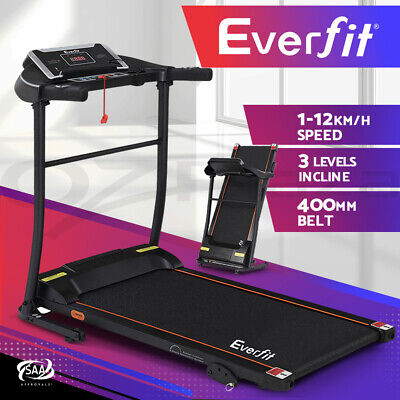 AU419.95 • Buy Everfit Treadmill Electric Incline Gym Exercise Machine Fitness Home 400mm