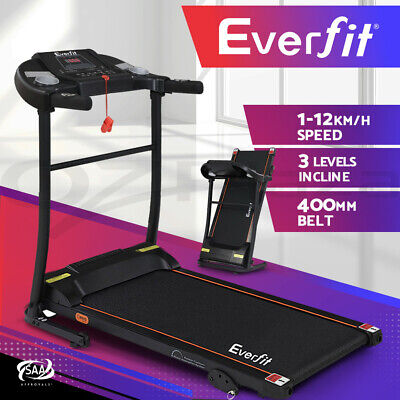 AU379.95 • Buy Everfit Electric Treadmill Incline Home Gym Exercise Machine Fitness 400mm