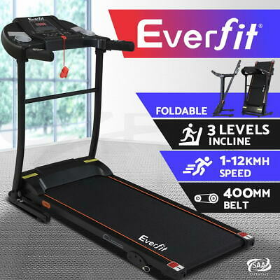 AU539.95 • Buy Everfit Treadmill Electric Incline Home Gym Exercise Machine Fitness 400mm