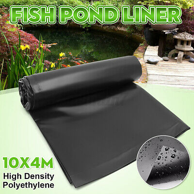 4.5X3M HDPE Heavy Duty Fish Pond Liner Pools Membrane Reinforced Landscaping • 16.99£