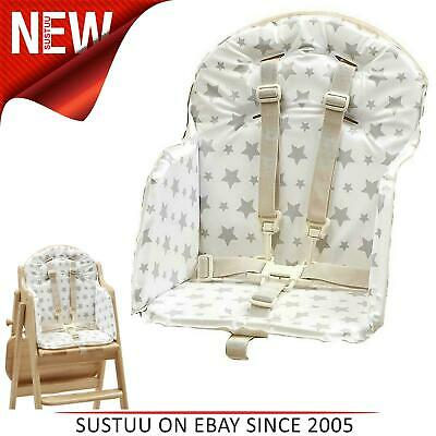 East Coast Baby's Highchair Insert│Padded Cushion│Feeding Chair Seat Cover│Grey • 15.06£
