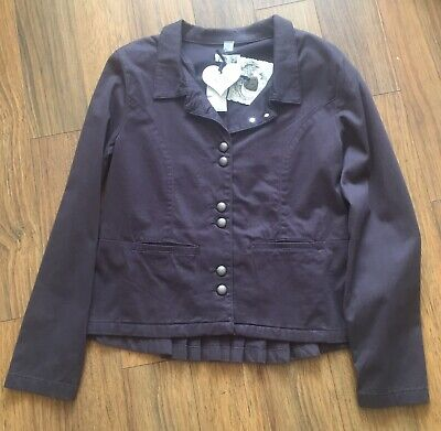 By TiMo Ti Mo Cotton JACKET Coat Brown/Black Large NEW • 79.99£