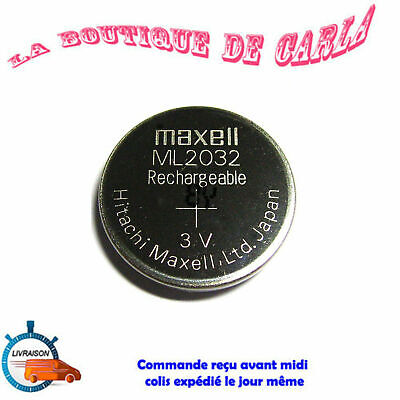 AU9.06 • Buy Coin Cell Battery ML2032 Rechargeable Lithium Manganese Maxell 3V Battery...