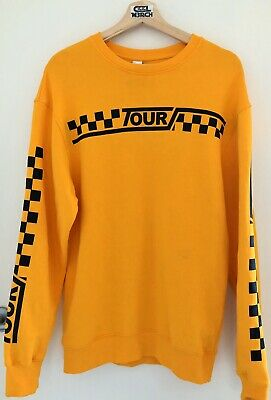 AU70 • Buy Justin Bieber Stadium Tour L/S Oversized Crewneck Sweatshirt (S, Yellow)