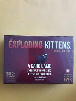 AU18.17 • Buy Exploding Kittens Original Edition Card Game - Brand New & Sealed