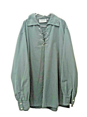 Tunic Shirt With Collar Green UK Size Large • 14.25£