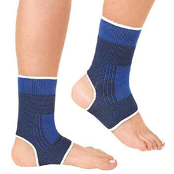 2 X Neoprene Protection Sport Injury Support Elastic Calf / Ankle / Palm / Elbow • 2.80£