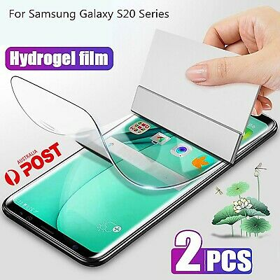 AU4.85 • Buy 2X HYDROGEL Screen Protector Samsung Galaxy S20 Ultra Plus S10 S9 S8 Note 10 S2