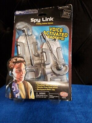 New Spy Gear Spy Link 2 Way Walkie Talkies Voice Activated Headsets Wild Planet  • 24.81£