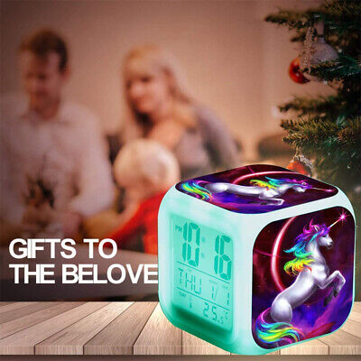 AU17.98 • Buy Alarm Clocks Kids Digital LED Wake-up Light Desk Night Light Girls Christmas Gif