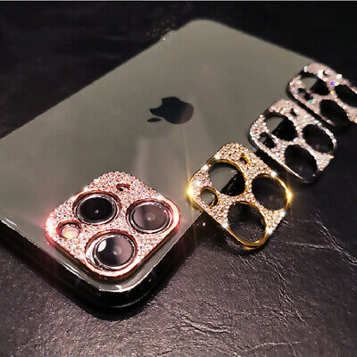 For IPhone 11 Pro Max/11 Camera Lens Diamond Bling Protector Sticker Cover UK • 3.89£