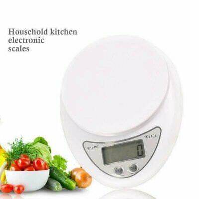 Kitchen Digital Scales 5KG Electronic Cooking Baking Weighing Scale With Bowl UK • 7.93£