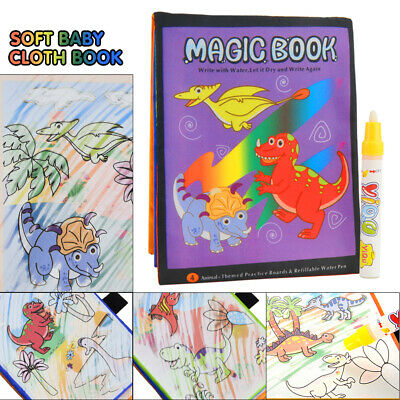UK Magic Water Drawing Book Coloring Painting Kids Toys Art Gift With/ Pen • 3.99£