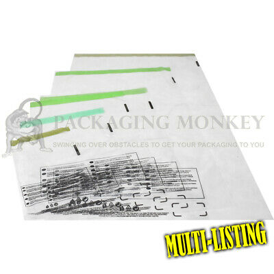 Strong 100% Recyclable Clear Mailing Bags Mailers Postal Bags *all Sizes/qty's*  • 4.25£