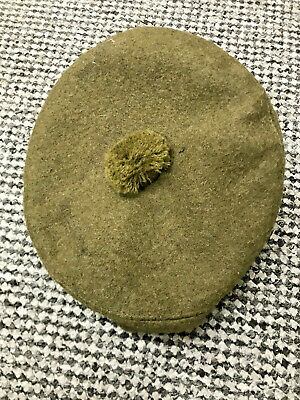 NEW Scots Infantry Style Tam O Shanter Beret , Olive Green Size 49 • 28.50£