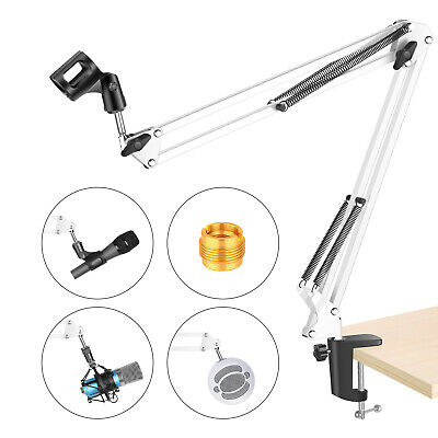 Neewer Microphone Suspension Boom Scissor Arm Stand For Max 1.26  Diameter Mic • 12.99£