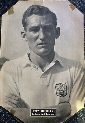 Signed Roy Bentley Chelsea FC Fulham England Football Autograph Posted • 9.99£